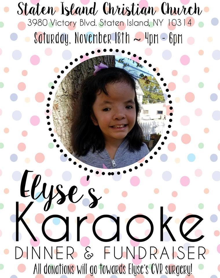 Elyse's Karaoke Dinner & Fundraiser